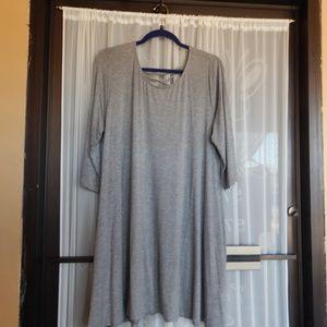Amelia James Kokomo ¾ Sleeve Lace Up Back Dress